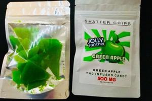 500 mg Green apple jolly ranchers  image