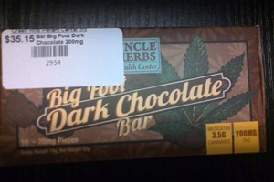 Big Foot Dark Chocolate Bar 200mg image