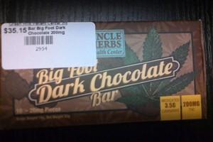Big Foot Dark Chocolate Bar 200mg image