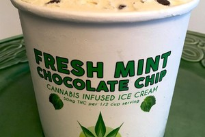 Gourmet Mint Chip Ice Cream (200mg THC total) image