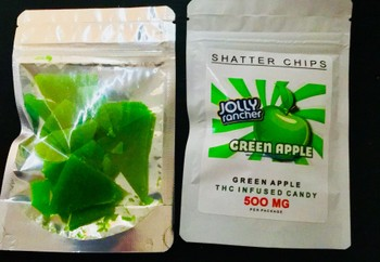 500 mg Green apple jolly ranchers  image