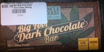Big Foot Dark Chocolate Bar 200mg