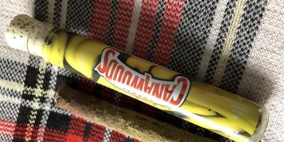 Cannawoods Novelty Blunt - Banana OG 2 g Flower - 0.25 g Shatter - 0.25 g Kief Blunt